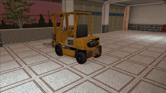 Saints Row variants - Forklift - industrial with pallet - rear left