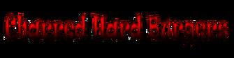 Charred Hard Burgers - red logo