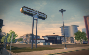 Foreign Power sign in Harrowgate in Saints Row 2
