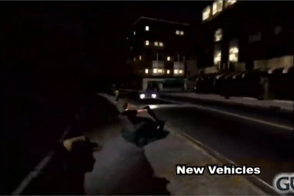Mobility scooter in Saints Row 2 production footage