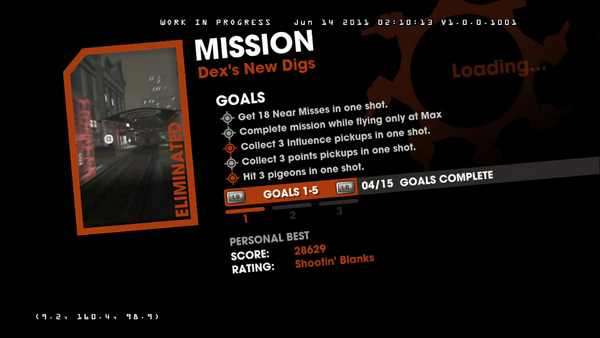 Dex's New Digs objectives - first 5 Goals