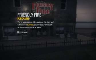 Friendly Fire in Adept Way purchased in Saints Row 2