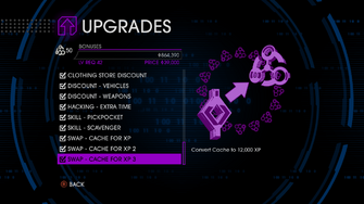 Upgrades menu in Saints Row IV - Page 3 of Bonuses