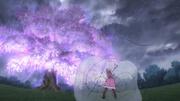 EP05cch Sakura arrastrada por Gravitation