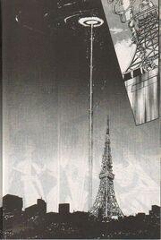 Torre de Tokio durante la batalla contra Eriol (Manga)