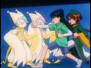 Syaoran y Meilin en la captura de Gemelos