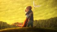 EP14cch Syaoran abraza a Sakura