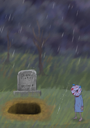 Diane's grave