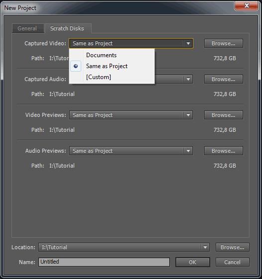 Premiere ScratchDisks