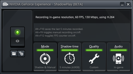 nvidia shadowplay recording too quiet