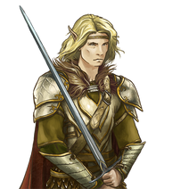 Male Blond Elf by Kitty
