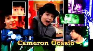 Cameron in the opening credits
