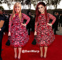 Jennette and Ariana wearing Adele's Grammy 2013 dress