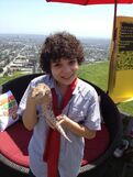 Cameron holding a lizard