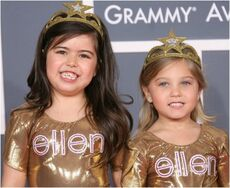 Sophia Grace and Rosie posing