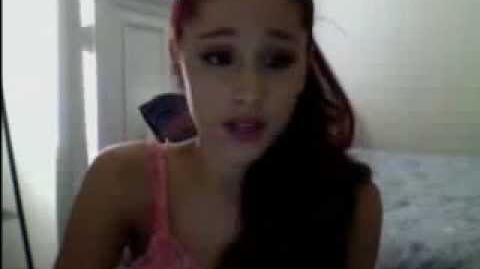Ariana Grande Livestream 8-10-12 part 1