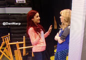 Ariana and Jennette on set Jan 31, 2013
