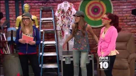 Sam and Cat on Nick Studio 10 Rap Battle Part 1
