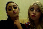 Ariana and Jennette hanging out and taking silly pictures