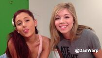 Jennette and Ariana on the set of Sam & Cat