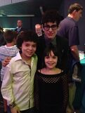 Cameron and his sister with Matt Bennett at 2013 pre-KCA party