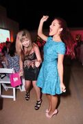 Ariana and Jennette dancing