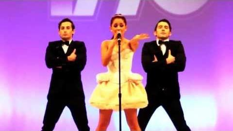 "Ariana Grande performing ""Born This Way Express Yourself"" Mash Up Live"