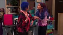 Cat and Nona with blue hair