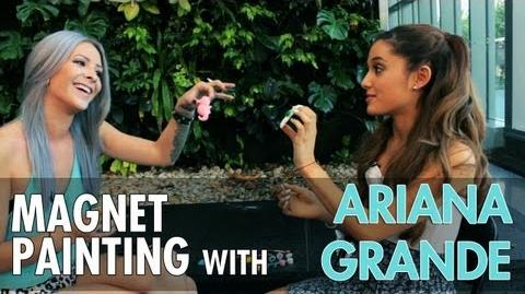Ariana Grande and Caity Paint Fridge Magnets