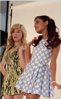 Jennette and Ariana at the Nick press photoshoot Feb 26, 2013