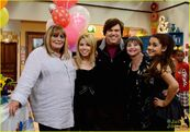 Ariana and Jennette's birthday on set with Dan Schneider