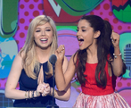 Ariana and Jennette at Nickelodeon's 26th Annual Kids' Choice Awards