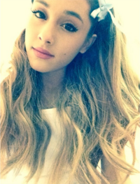Ariana wearing headbands she found in Harajuku