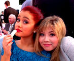 Ariana and Jennette at the Angel Awards