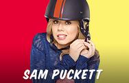Sam wearing a black helmet