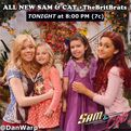 Sam holding Ruby and Cat holding Gwen - TheBritBrats promo pic