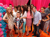 Jennette and Ariana with the iParty With Victorious cast at the Premiere