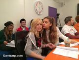 Ariana and Jennette at script reading