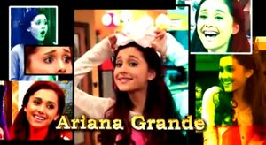 Ariana in the opening credits