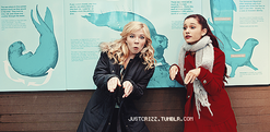 Ariana & Jennette pretending to be seals