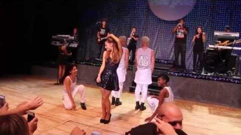 "Ariana Grande Almost Falls While Singing ""The Way"""