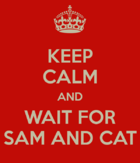 Keep calm and wait for Sam and Cat