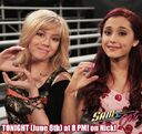 Jennette and Ariana making a 'S' and 'C'