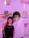 Cameron and his sister at 2013 pre-KCA party