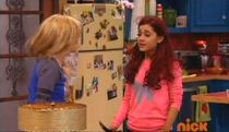 Sam and Cat in the kitchen