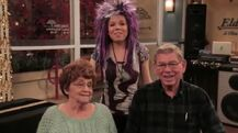 Jennette with her grandparents