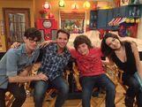 Nathan, Matt, and Liz on the set of Sam and Cat