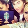 Ariana and Jennette with their friend Noah Crawford