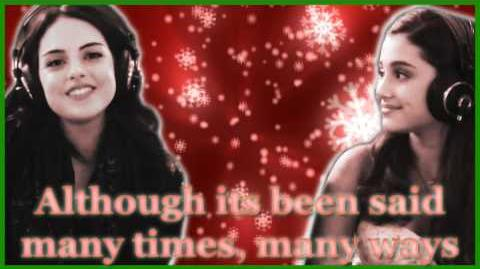 """Elizabeth Gillies and Ariana Grande - """"Chestnuts (Roasting on an Open Fire)"""" - Lyrics Video"""