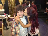 Ariana kissing Cameron Feb 13, 2013